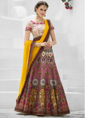 Gorgonize Digital Print Work Silk Trendy Lehenga Choli