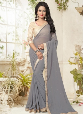 Gorgonize Faux Georgette Contemporary Saree