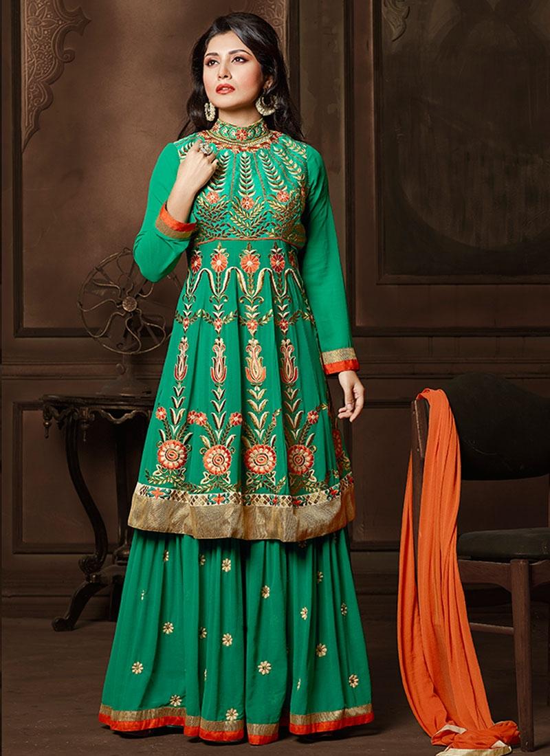 Gorgonize Faux Georgette Kameez Style Designer Lehenga Choli