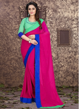 Gorgonize Faux Georgette Stone Work Casual Saree