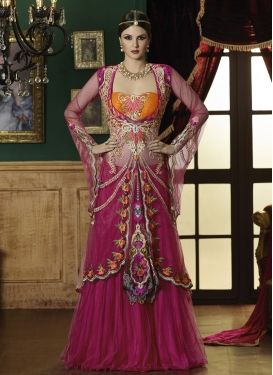 Gorgonize Floral And Stone Work Wedding Lehenga Choli