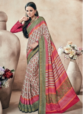Gorgonize Printed Art Silk Casual Saree
