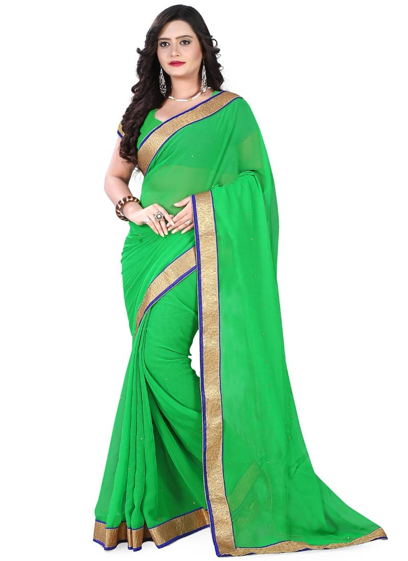 Gorgonize Resham And Lace Work Casual Saree