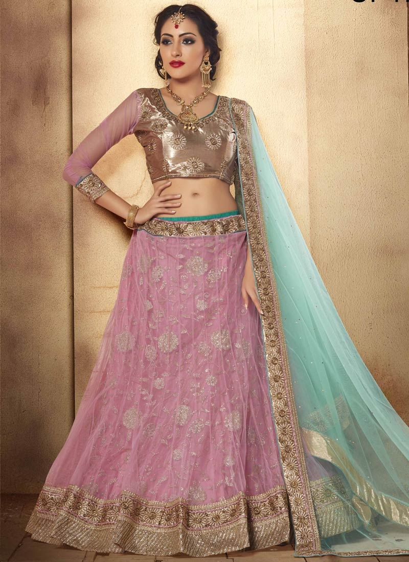 Gorgonize Resham And Stone Work Designer Lehenga Choli