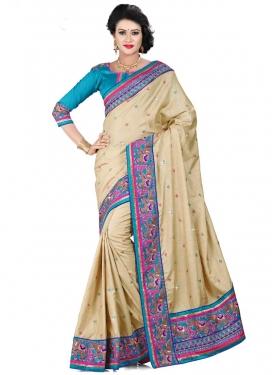 Gorgonize Resham Work Manipuri Silk Designer Saree
