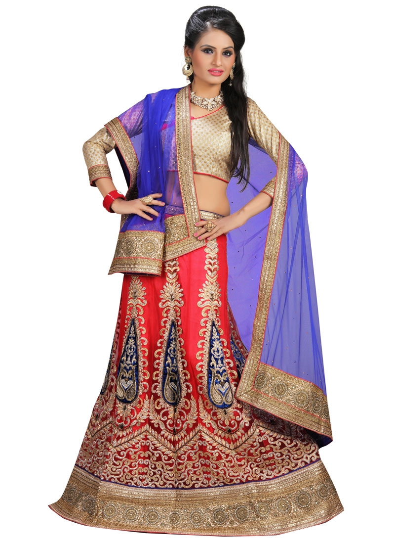 Gorgonize Velvet Patch Work Wedding Lehenga Choli
