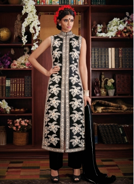 Graceful Bhagalpuri Silk Pant Style Designer Suit