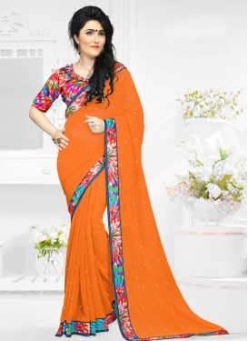 Graceful  Digital Print Work Classic Saree