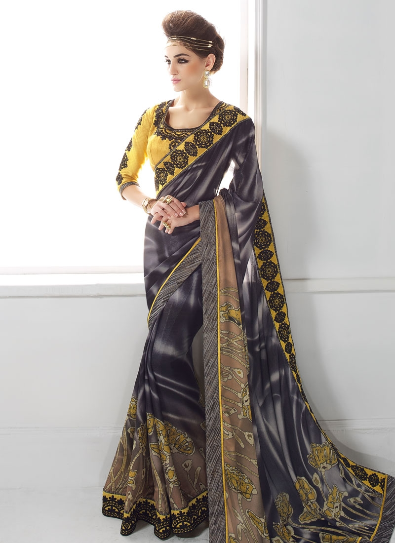 Graceful Lace Work Party Wear Saree