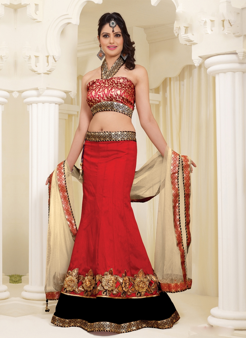 Graceful Red Color Party Wear Lehenga Choli