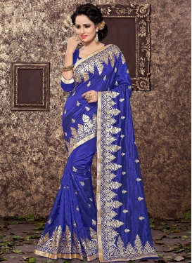 Grandiose Art Silk Embroidered Work Classic Saree