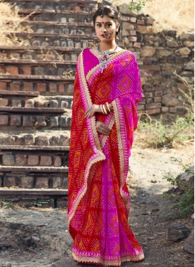 Grandiose  Bandhej Print Work Trendy Saree