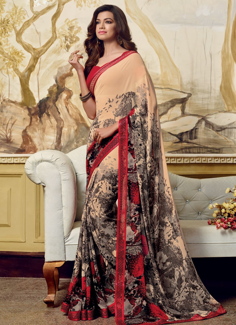Grandiose Digital Print Work Faux Georgette Casual Saree
