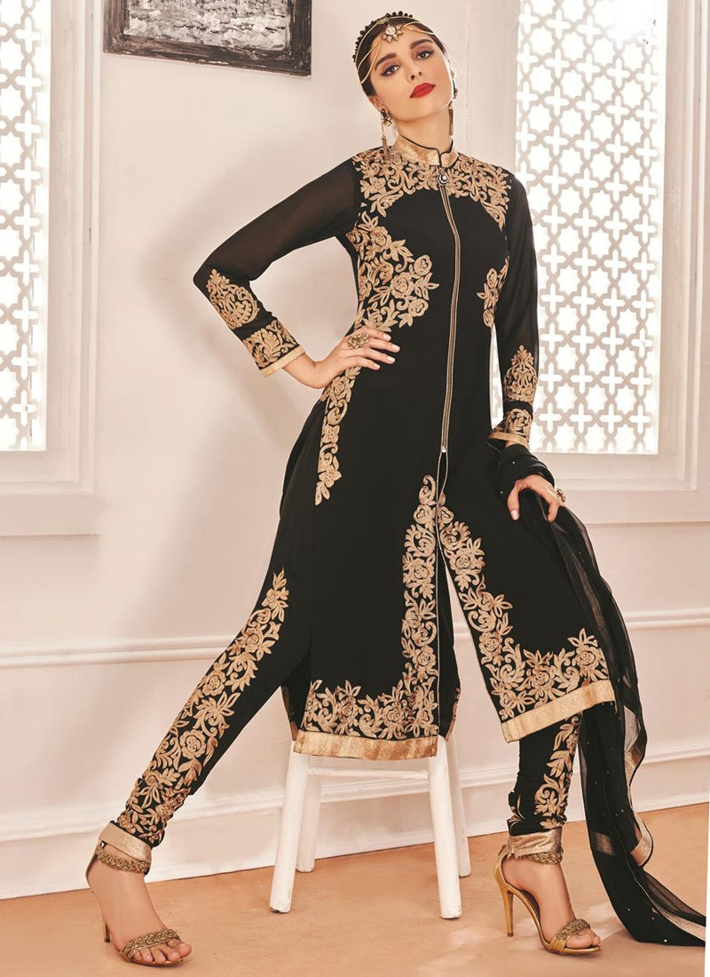 Grandiose Embroidery Work Pant Style Designer Salwar Suit