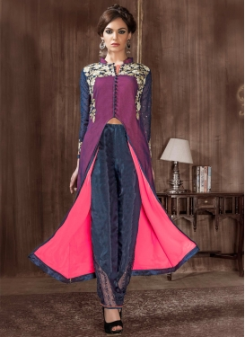 Grandiose Embroidery Work Pant Style Designer Suit