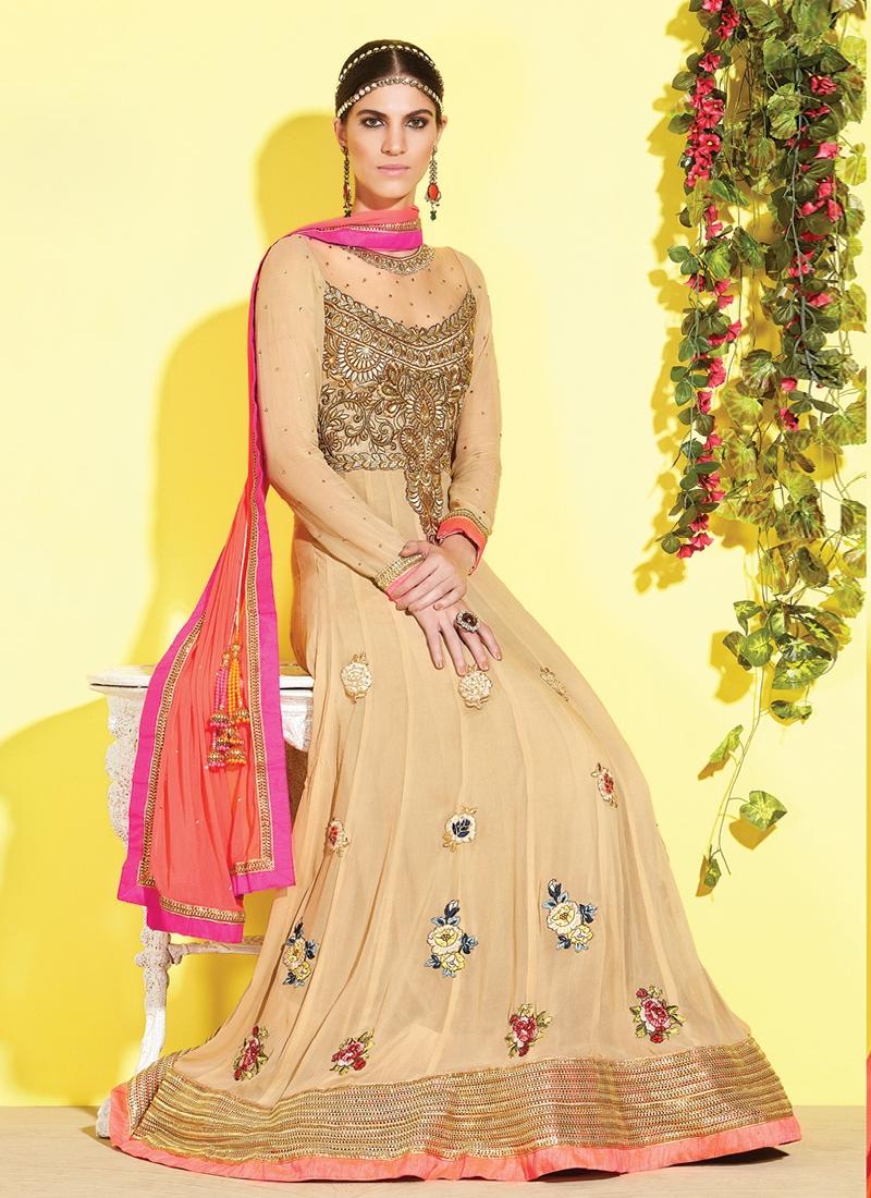 Grandiose Floral Work Anarkali Salwar Kameez