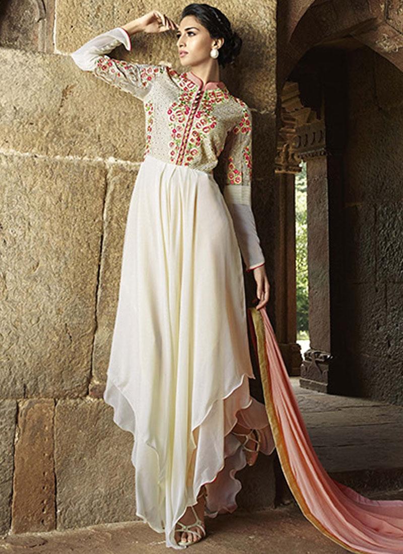 Grandiose Floral Work Asymmetrical Style Designer Salwar Suit