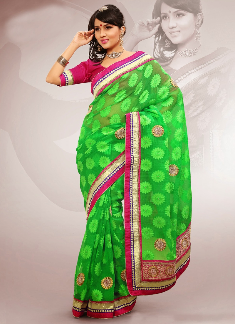 Grandiose Stones Enhanced Party Wear Saree