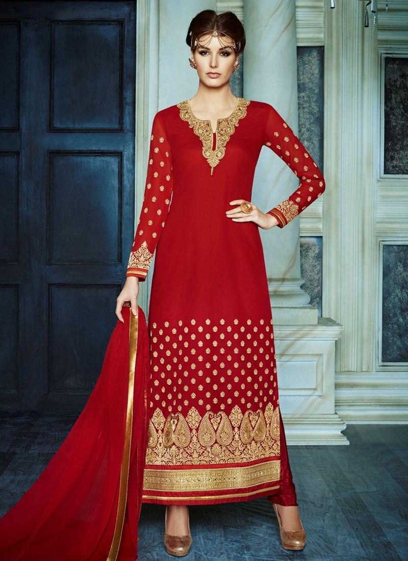 Gratifying Beads Work Long Length Pakistani Suit
