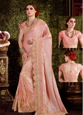Gratifying  Beads Work Traditional Designer Saree