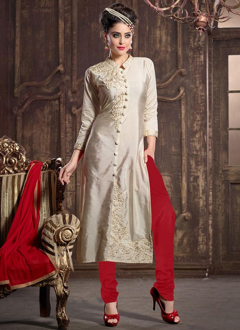 Chanderi Silk Party Wear Salwar Suit