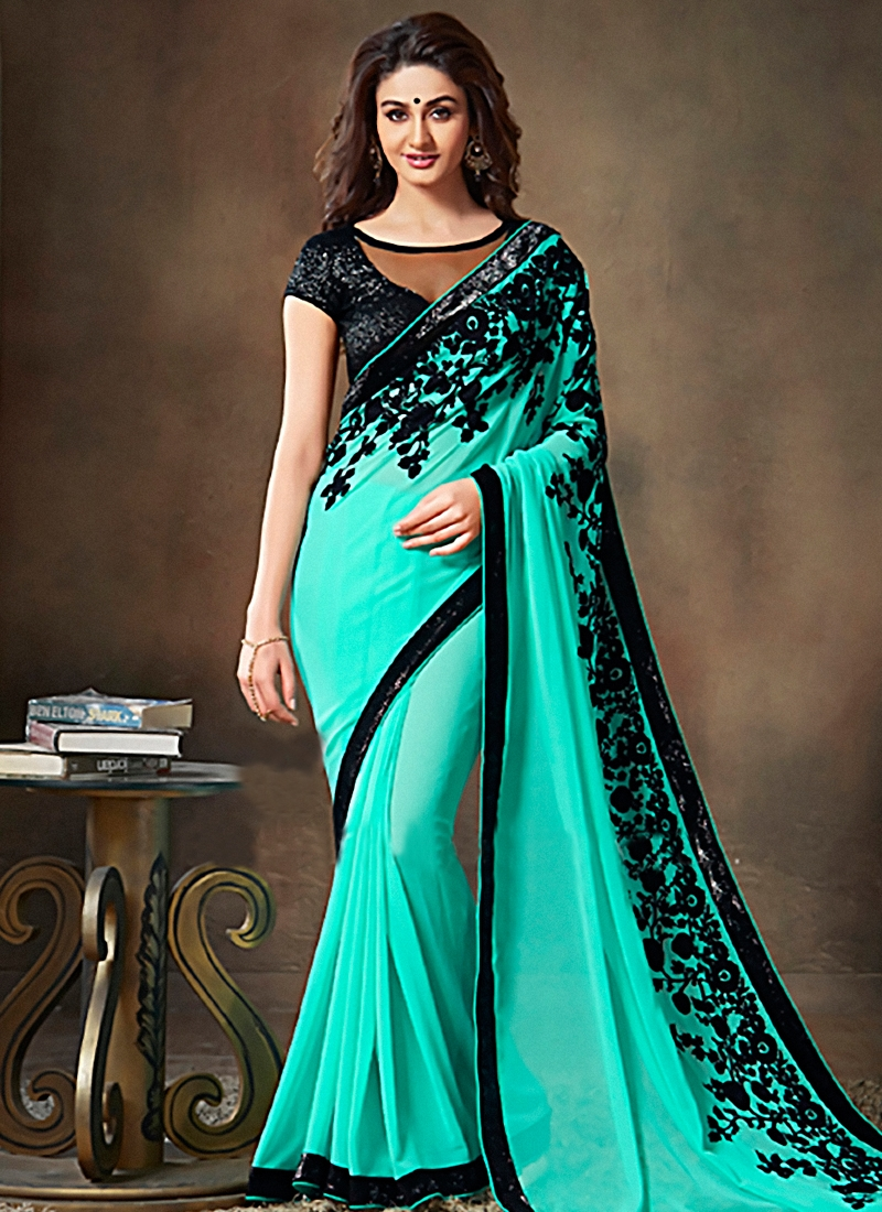 Gratifying Resham Work Party Wear Saree