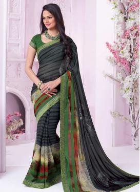 Green and Grey Classic Saree