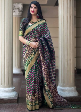 Green and Magenta Traditional Saree