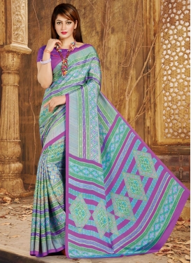 Green and Magenta  Trendy Classic Saree