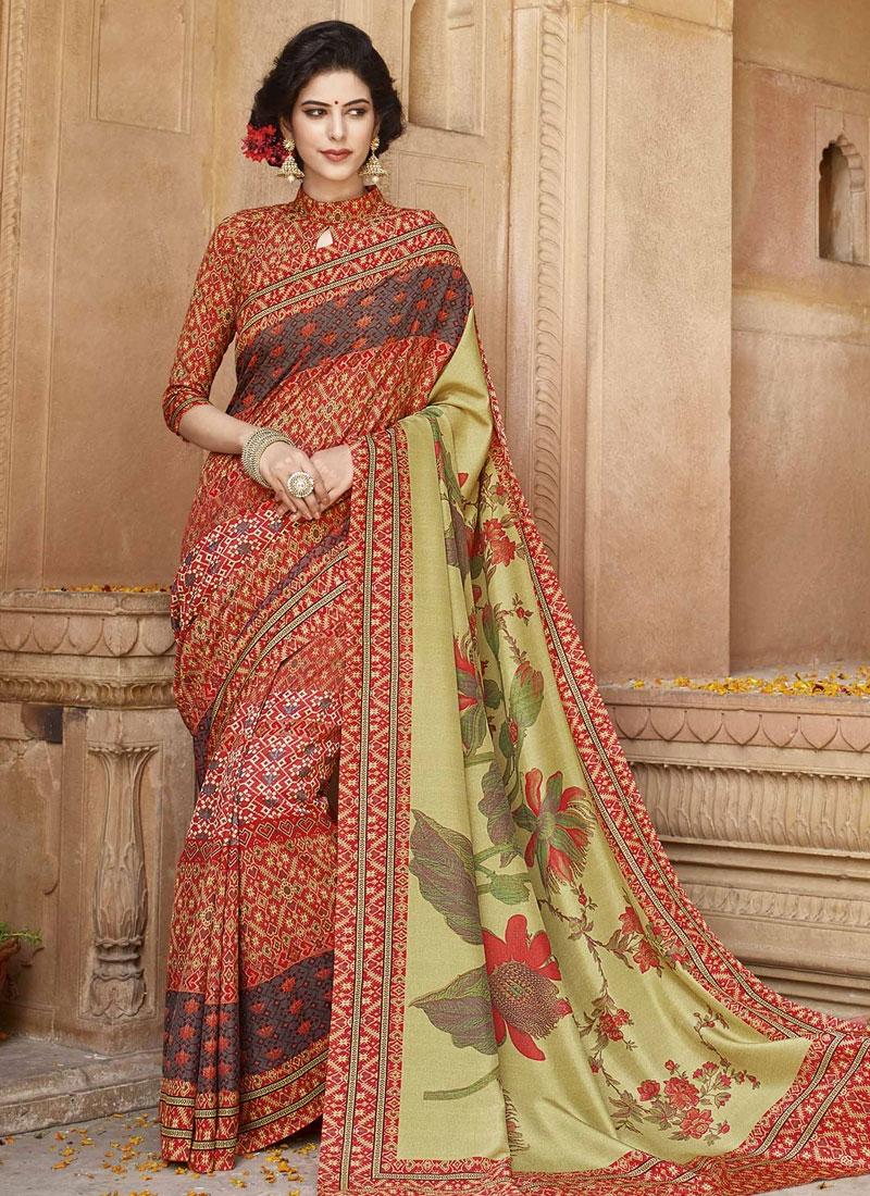 Gripping Art Silk Casual Saree