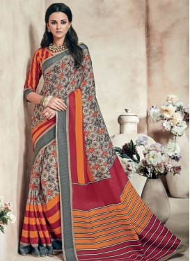 Gripping Art Silk Party Wear Saree