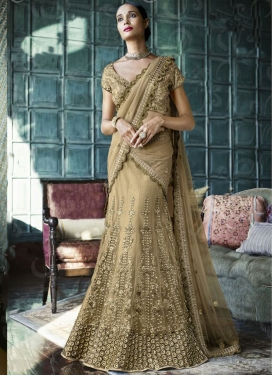 Gripping Embroidery Work Net Designer Lehenga Choli
