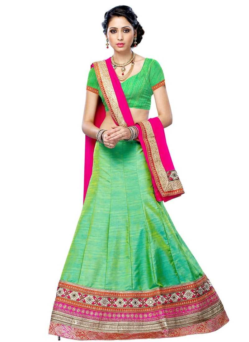 Groovy Beads And Mirror Work Party Wear Lehenga Choli
