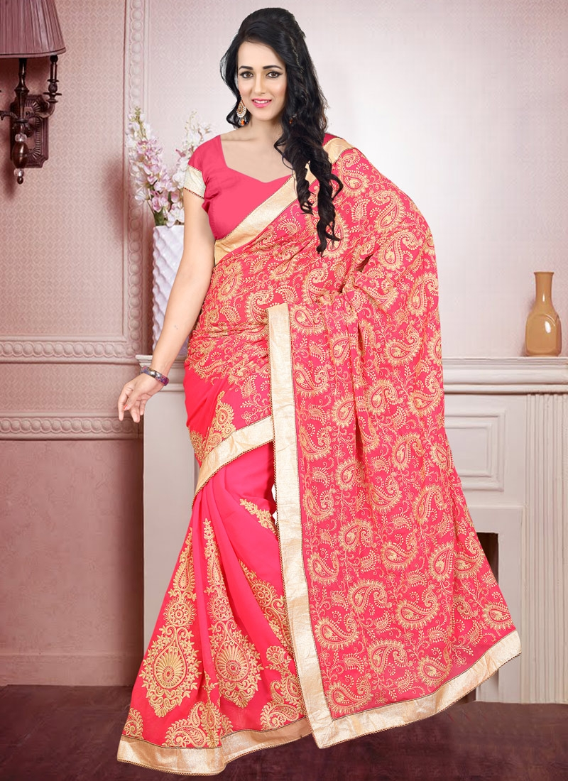 Groovy Booti And Stone Work Designer Saree