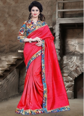 Groovy Lace Work Casual Saree