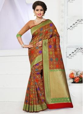 Groovy  Resham Work Trendy Classic Saree
