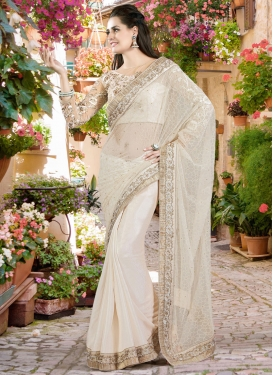 Groovy Stone Work Jacquard Silk Designer Saree