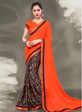 Half N Half Designer Saree For Casual