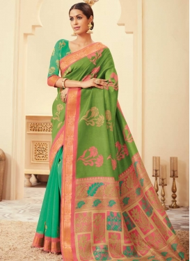 Half N Half Trendy Saree