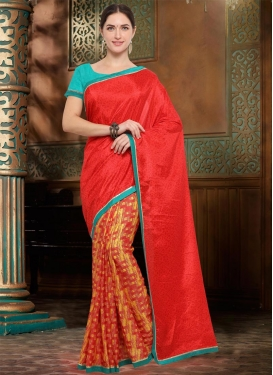 Half N Half Trendy Saree For Casual