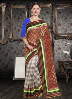 Half N Half Trendy Saree For Casual