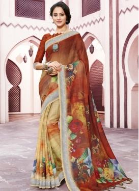 Half N Half Trendy Saree For Ceremonial