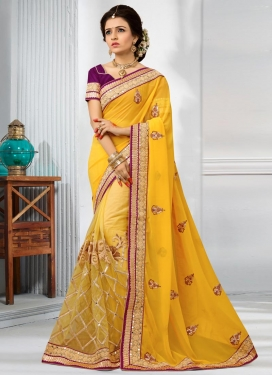Half N Half Trendy Saree For Festival
