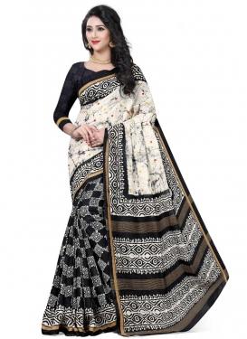 Handloom Silk Half N Half Designer Saree