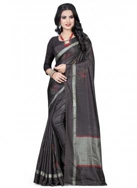 Handloom Silk Print Work Contemporary Saree