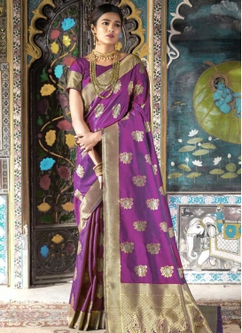 Handloom Silk Thread Work Classic Saree