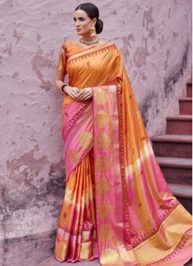 Handloom Silk Thread Work Classic Saree