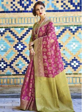 Handloom Silk Thread Work Contemporary Style Saree