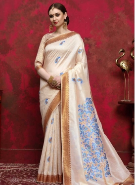 Handloom Silk Thread Work Designer Traditional Saree