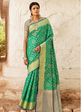 Handloom Silk Thread Work Designer Traditional Saree